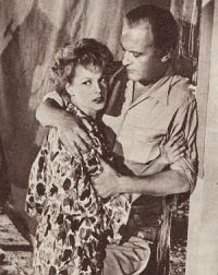 Film und Frau 1954-06 Nr 14 S12 Eva Bartok, Curd Jürgens, Rummelplatz der Liebe (Retro, Szene)