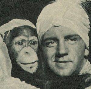 Harry Piel und Schimpanse Flips