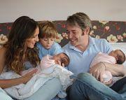 Familienglück: Die Zwillinge Marion Loretta Elwell Broderick undTabitha Hodge Broderick mit Eltern Sarah Jessica Parker und Matthew Broderick