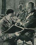 Falk Harnack und Oberst Treskow-Tillmann im Studio