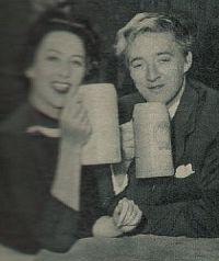Revue, 1. Juniheft 1955, Nr. 13, Seite 17, Oskar Werner, Martine Carol (Retro 1)