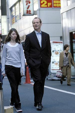 Sofia Coppola mit Bill Murray in Tokio