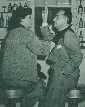 Film Revue, Februar 1955, Jahrgang 9, Zweites Februarheft, S. 16, Ein Mann vergißt die Liebe, Maria Holst, Willi Forst (retro)