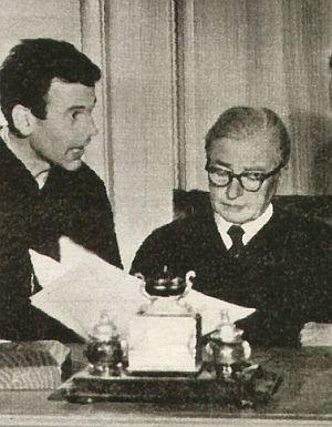 Maximilian Schell, Claude Rains und Melvyn Douglas