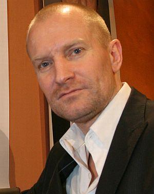 """Ulrich Thomsen bei der Pressekonferenz zu """"The International"""" in Berlin 2009"""
