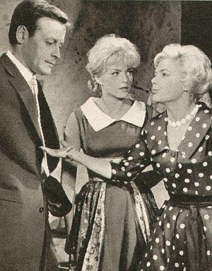 Film Revue, 1960, Jahrgang 14,  Nr.13, S. 34, Pension Schöller, Helmut Lohner, Ann Smyrner, Christa Williams (retro)
