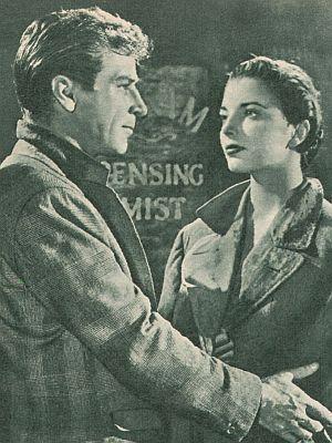 Film Revue, 3. Mailheft 1955, Jahrgang 9, Nr.12, S.32, Richard Baseheart, Joan Collins, Vier bleiben auf der Strecke (Kino)