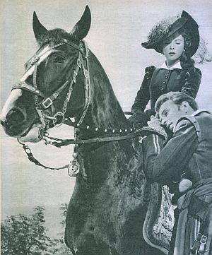 Film Revue, 1. Novemberheft 1955, Jahrgang 9, Nr.23, S.35, Götz von Langheim, Anita Björk, Cornet (Retro)