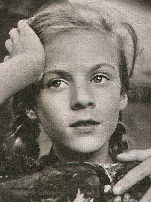 """Heidi Brühl als kleines Mädchen in """"Immenhof"""""""
