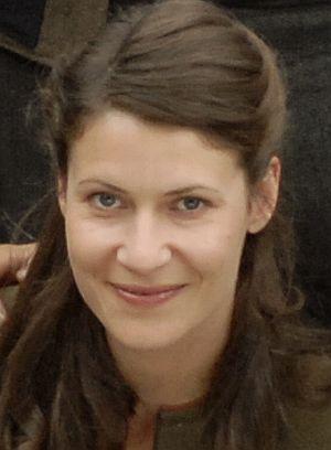 "Inga Birkenfeld am Set von ""Bergblut"""