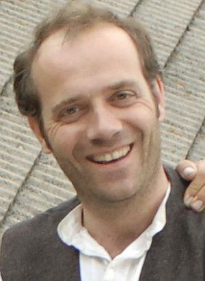 """Manfred-Anton Algrang am Set von """"Bergblut"""""""