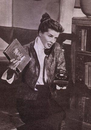Film und Frau 1957, 3. Quartal, Heft 16, Seite 16, Katharine Hepburn, Eine Frau, die alles weiß (Retro) 3