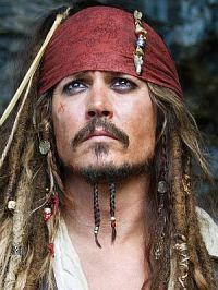 Johnny Depp als Pirat Jack Sparrow