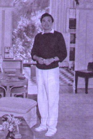 James Mason in der ehemaligen Villa von Buster Keaton