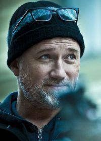 David Fincher am Set zu