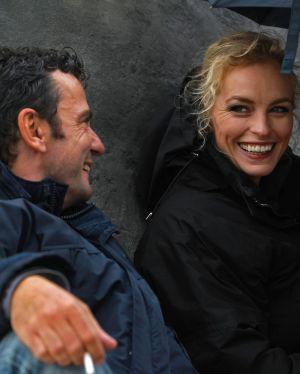 """Christian Petzold und Nina Hoss am Set von """"Barbara"""""""
