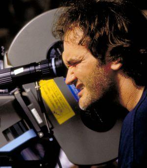 """Quentin Tarantino am Set von """"Jackie Brown"""""""