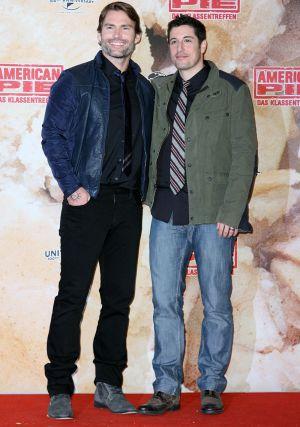 """Seann William Scott und Jason Biggs auf dem Berliner Photocacall zu """"American Pie: Das Klassentreffen"""""""