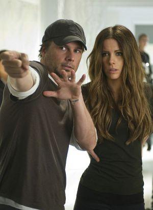"""Len Wiseman und Kate Beckinsale am Set von """"Total Recall"""""""