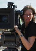 """Kamerafrau Bella Halben am Set von """"Exit Marrakech"""""""