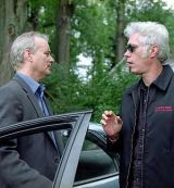 "Bill Murray mit Jim Jarmusch am ""Broken Flowers""-Set"