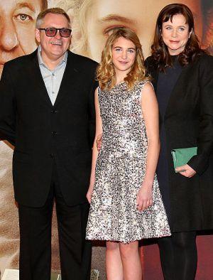 Regisseur Brian Percival mit Hauptdarstellerin Sophie Nélisse und Emily Watson in Berlin