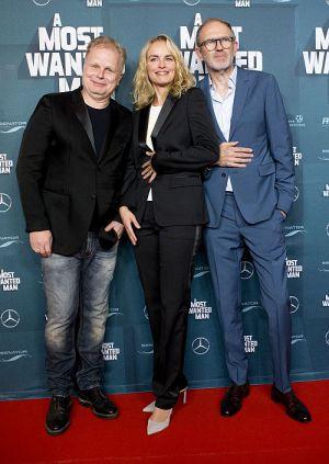 """Herbert Grönemeyer, Nina Hoss und Anton Corbijn auf der Premiere von """"A Most Wanted Man"""" in Berlin"""