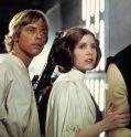 """Mark Hamill und Carrie Fisher in """"Star Wars Episode 4 - Eine neue Hoffnung"""" (AKA Krieg der Sterne)"""