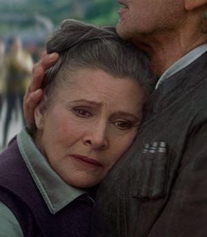 """Carrie Fisher, Star Wars: Das Erwachen der Macht"""" (Szene) 2015"""