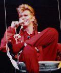 David Bowie 1987 auf dem Musikfestival Rock am Ring