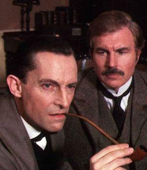 Jeremy Brett, David Burke, Sherlock Holmes (Szene) 1985