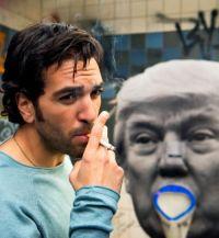 Elyas M'Barek und Donald Trump in