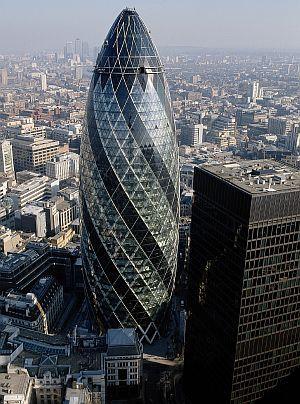 Building The Gherkin - Norman Foster baut in London