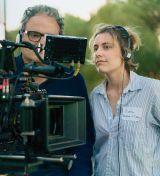 """Greta Gerwig am Set von  """"Lady Bird"""""""