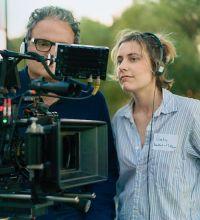 Greta Gerwig am Set von