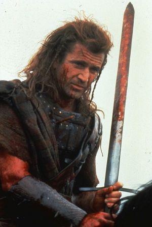 "Mel Gibson in ""Braveheart"" (1996)"