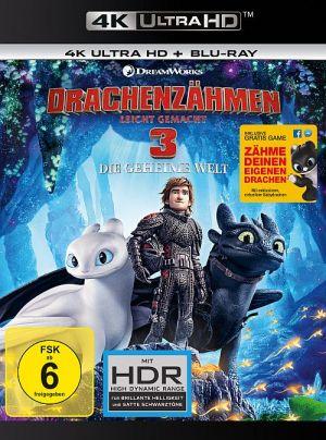 Drachenzähmen leicht gemacht 3 - Die geheime Welt (4K Ultra HD + Blu-ray)