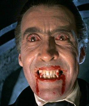 "Christopher Lee in ""Dracula"" (1958)"