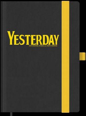 Notizbuch mit Yesterday-Motiv