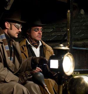 """Jude Law & Robert Downey Jr in """"Sherlock Holmes: Spiel im Schatten"""" (""""Sherlock Holmes: A Game of Shadows, 2011)"""